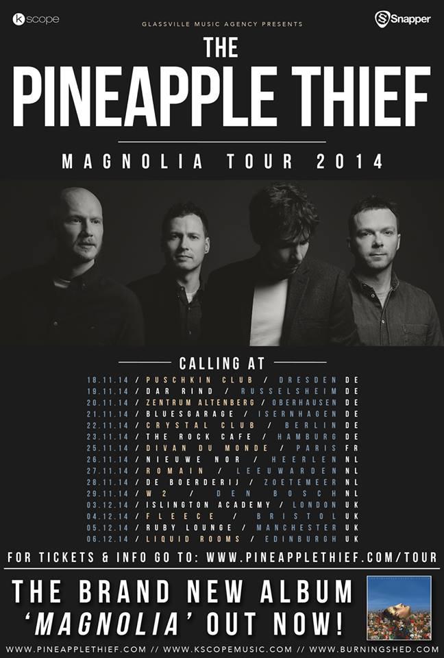 affiche MAGNOLIA TOUR2014-the_pineapple_thief