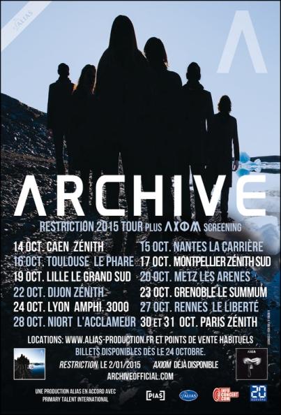 affiche ARCHIVE RESTRICTION TOUR 2015