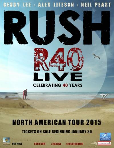 affiche RUSH amrican tour