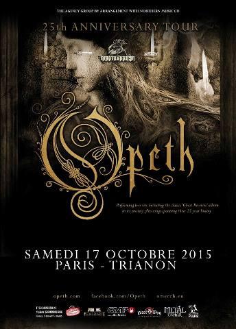 affiche OPETH PARIS 2015