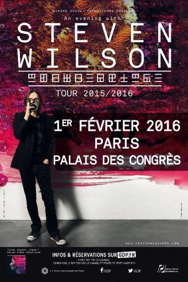 affiche steven wilson paris 2016