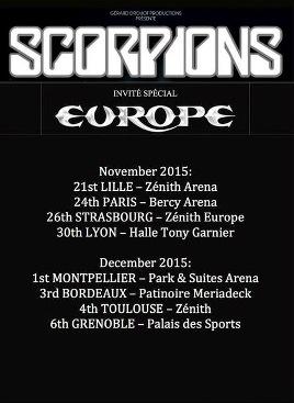affiche scorpions 2015