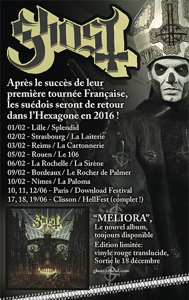 affiche GHOST 2016
