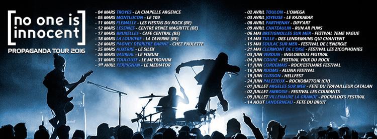 affiche no one is innocent tournée 2016