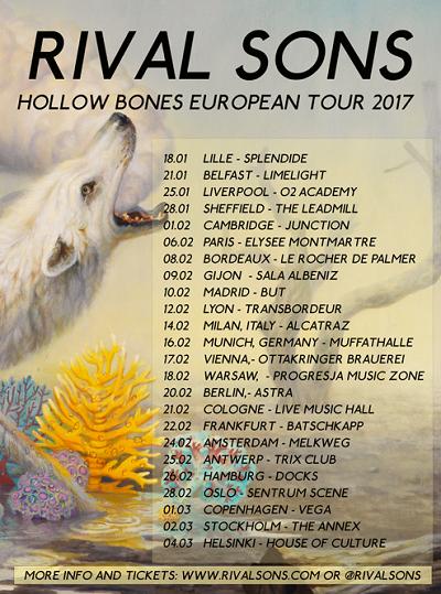 rival sons tournée européenne 2017
